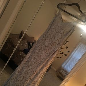 La femme diamond blue lace dress